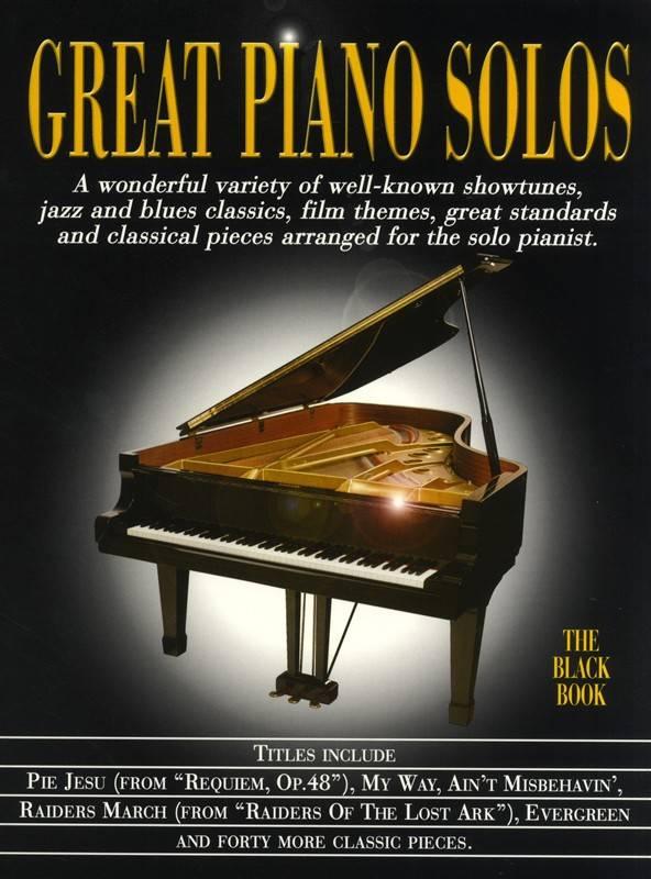 Hal Leonard Great Piano Solos   The Black Book