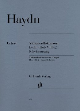 Henle Verlag Haydn    Concert voor Cello en Orkest in D Hob. VIIb:2   Piano Uittreksel