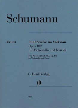 Henle Verlag Schumann, R.   Vijf werken in Folk stijl op. 102 voor cello en Piano