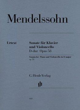 Henle Verlag Mendelssohn Bartholdy, Felix   Sonate voor Cello en Piano in D op. 58