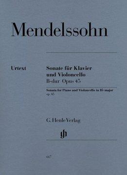 Henle Verlag Mendelssohn Bartholdy, Felix   Sonate voor Cello en Piano in Bes op. 45