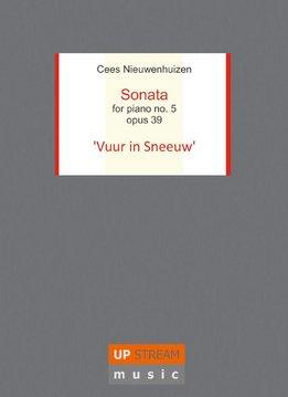 Upstream Music Cees Nieuwenhuizen | Sonate nr. 5 Opus 39 'Vuur in Sneeuw' | Luxe uitgave + CD
