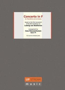 Upstream Music Beethoven & Nieuwenhuizen | Concert in F voor piano en orkest | Partituur + Losse stemmen
