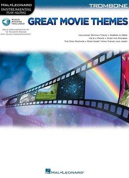 Hal Leonard Instrumental Play-Along: Great Movie Themes | Trombone (Boek + Audio)