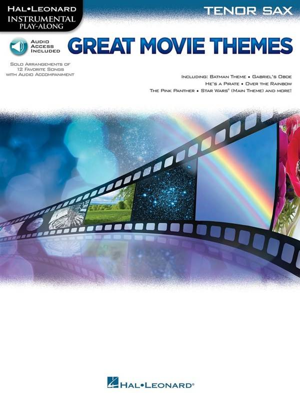 Hal Leonard Instrumental Play-Along: Great Movie Themes | Tenorsaxofoon (Boek + Audio)