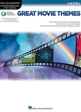 Hal Leonard Instrumental Play-Along: Great Movie Themes   Hoorn (Boek + Audio)