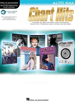 Hal Leonard Instrumental Play-Along: Chart Hits | Altsaxofoon (Boek + Audio)