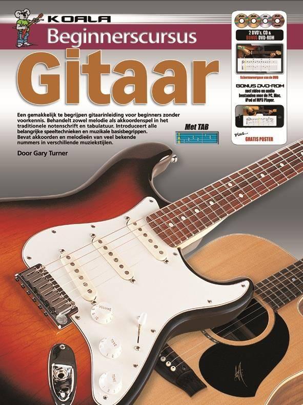 Koala Publications Beginnerscursus Gitaar| Boek + CD + DVD