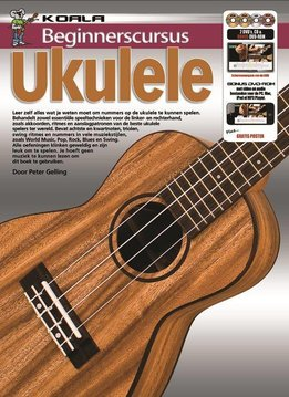 Koala Publications Beginnerscursus Ukulele | Boek + CD + DVD