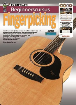 Koala Publications Beginnerscursus Fingerpicking Gitaar | Boek + CD + DVD