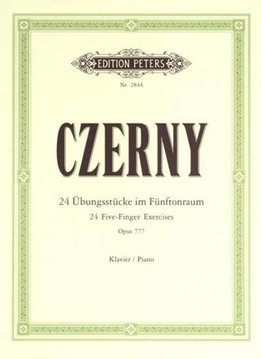 Edition Peters Czerny, Carl | 24 Vijf-vinger Oefeningen | Opus 777