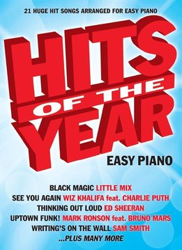 Wise Publications Hits Of The Year 2015 | Songbook voor Easy Piano