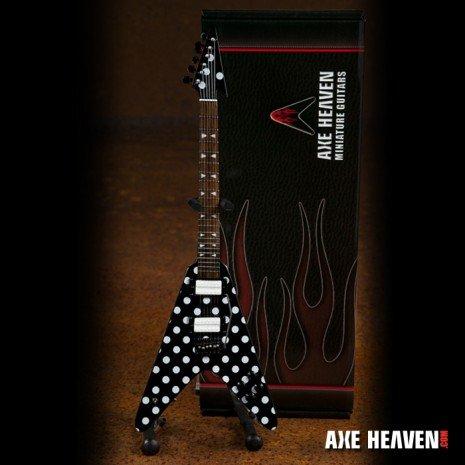 Axe Heaven Axe Heaven miniatuur gitaar | Randy Rhoads Harpoon Polka Dot Flying V