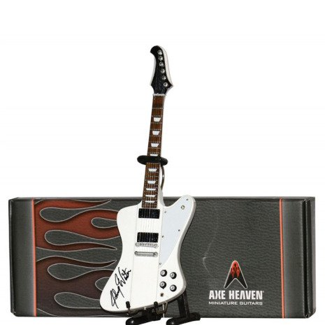 Hal Leonard Axe Heaven miniatuur gitaar | Johny Winter Firebird White Mini