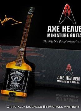 Hal Leonard Axe Heaven miniatuur gitaar | Mad Anthony Jack Daniels Electric Bass Model
