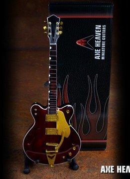 Hal Leonard Axe Heaven miniatuur gitaar | George Harrison Rosewood Hollow Body Model