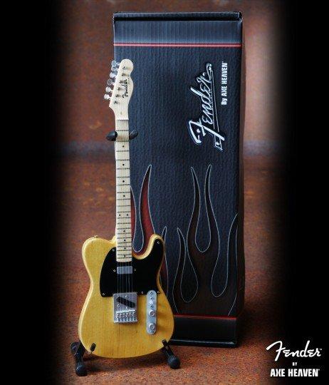 Hal Leonard Axe Heaven miniatuur gitaar | Fender™ Telecaster™- Butterscotch Blonde Finish
