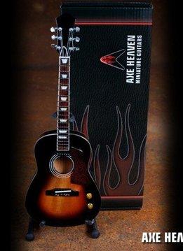 Axe Heaven Axe Heaven Miniatuur gitaar | Vintage Sunburst Finish Acoustic Miniature Guitar