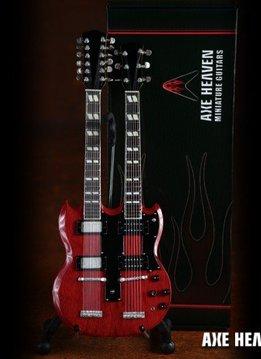 Axe Heaven Axe Heaven Miniatuur gitaar | Classic 1971 Zep Re-issue Stained Double Neck