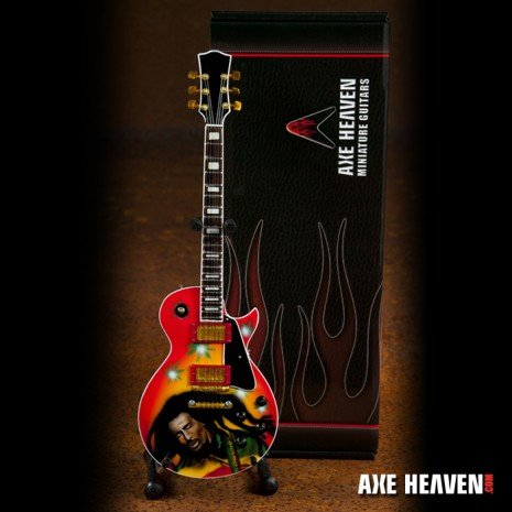 Axe Heaven Axe Heaven Miniatuur gitaar | Bob Marley Tribute Reggae Model Miniature Guitar Replica