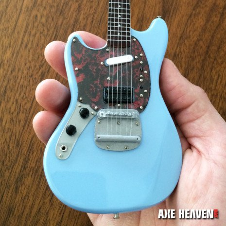 Axe Heaven Axe Heaven Miniatuur gitaar | Officially Licensed Mini Sonic Blue Fender™ Mustang™ Guitar Replica Model