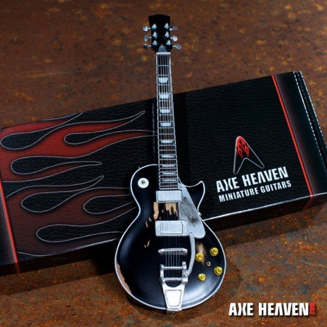 Axe Heaven Axe Heaven Miniatuur gitaar | Neil Young Vintage Distressed Old Black Miniature Guitar Replica Collectible