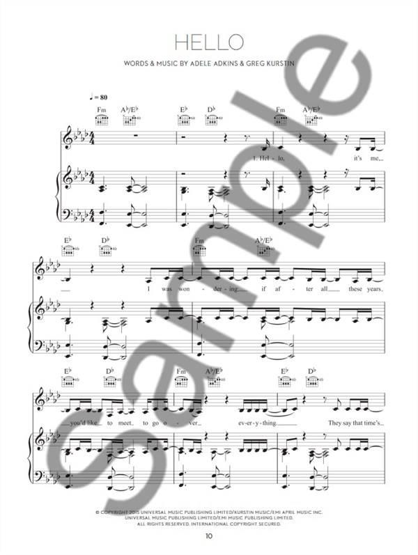 Hal Leonard Adele | 25 | Songbook voor zang, piano en gitaar