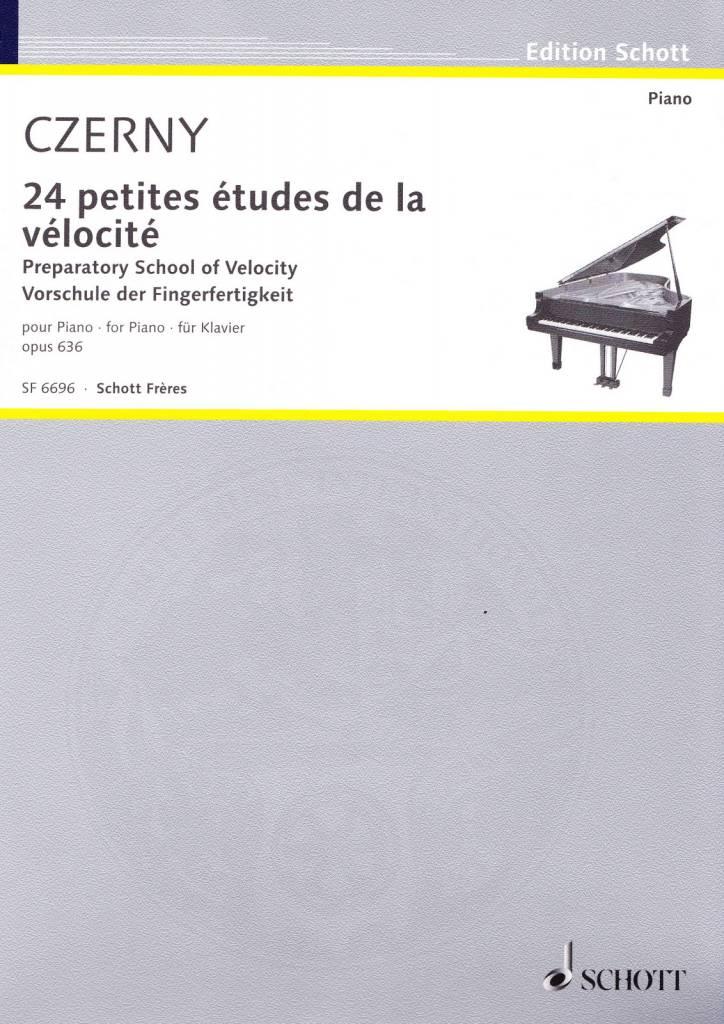 Edition Schott Czerny, Carl | 24 petites études de la vélocité | Opus 636