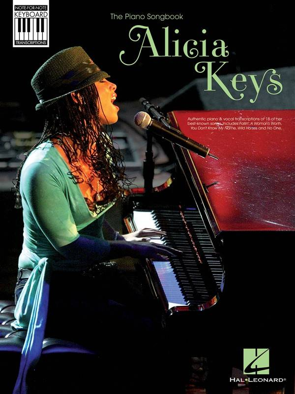 Hal Leonard Alicia Keys | Note-For-Note Keyboard Transcriptions