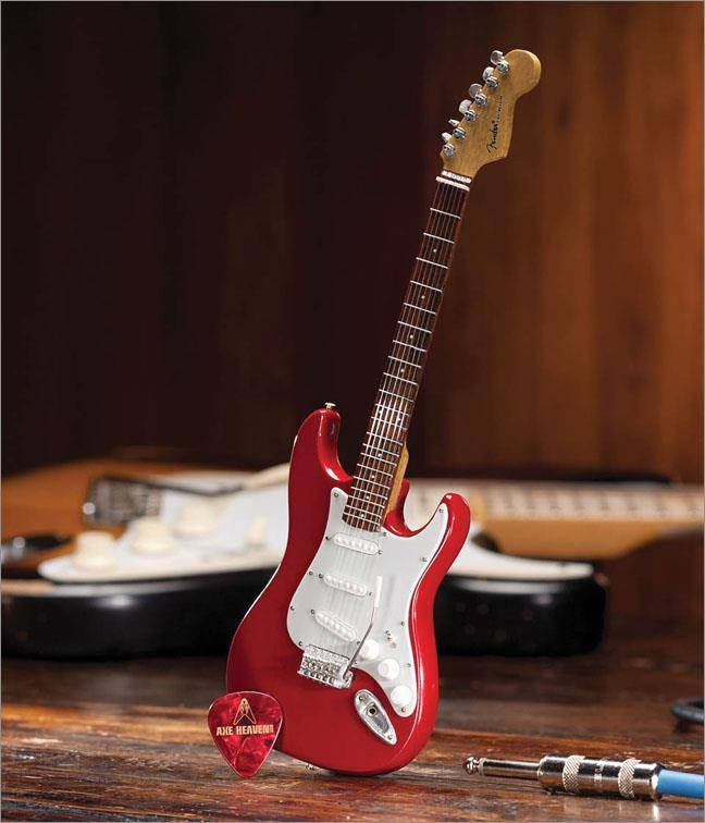 Axe Heaven Axe Heaven miniatuur gitaar | Fender Stratocaster- Classic Red Finish