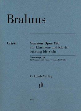 Henle Verlag Brahms | Klarinetsonates op. 120 | Versie voor altviool