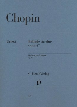 Henle Verlag Chopin | Ballade in As op. 47 | Bladmuziek piano