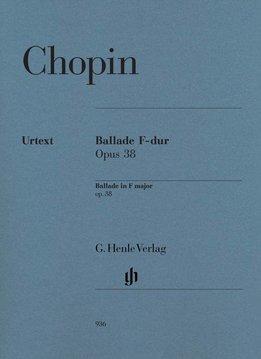 Henle Verlag Chopin | Ballade in F op. 38 | Bladmuziek piano