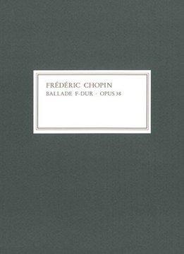 Henle Verlag Chopin | Ballade in F op. 38 | Facsimile van het handschrift