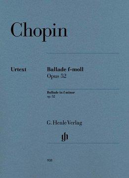 Henle Verlag Chopin | Ballade in f klein op. 52 | Bladmuziek piano