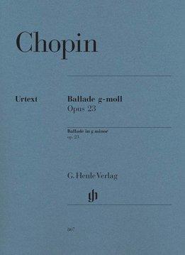 Henle Verlag Chopin | Ballade in g klein op. 23 | Bladmuziek piano