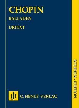 Henle Verlag Chopin | Ballades | Bladmuziek piano | pocketformaat