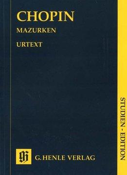 Henle Verlag Chopin | Mazurka's | Bladmuziek piano | Pocket editie