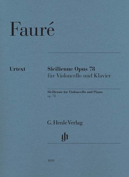 Henle Verlag Fauré | Sicilienne op. 78 voor Cello & Piano
