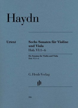 Henle Verlag Haydn   Zes Sonates Hob. VI:1-6 voor Viool & Altviool