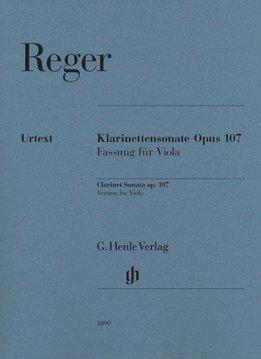Henle Verlag Reger   Klarinetsonate opus 107, versie voor Altviool