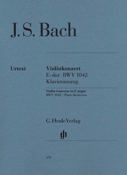 Henle Verlag Bach   Vioolconcert in E BWV 1042   Piano-uittreksel