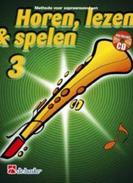 De Haske Horen Lezen & Spelen 3   sopraansaxofoon   Boek + CD