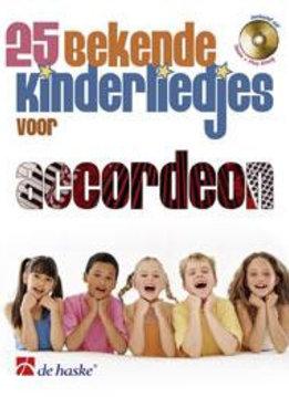De Haske 25 bekende kinderliedjes voor accordeon