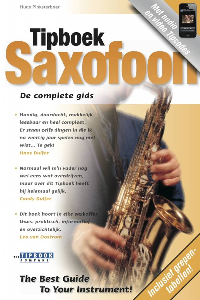 The Tipbook Company Tipboek Saxofoon