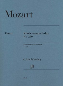 Henle Verlag Mozart | Pianosonate nr. 2 in F KV 280 (189e)