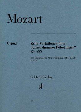 "Henle Verlag Mozart | 10 Variaties op """"Unser dummer Pöbel"" KV 455"