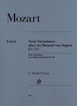 Henle Verlag Mozart | 9 Variaties op een menuet van Duport KV 573
