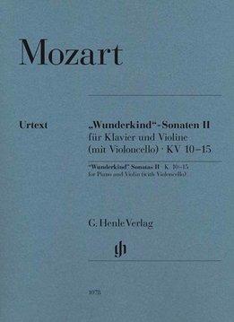 Henle Verlag Mozart | 'Wonderkind' sonates volume 2 voor piano & viool KV 10-15