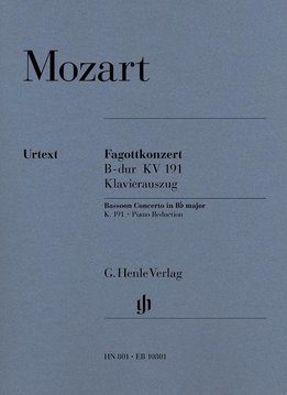 Henle Verlag Mozart | Fagotconcert in Bes KV 191 | Piano-uittreksel